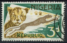 Nigeria 1969-72 SG#223, 3d Cheetah Definitive Small Imprint Used #D19232