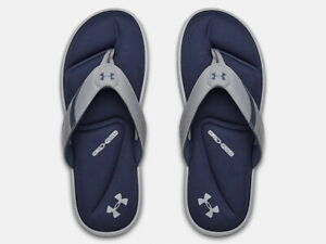 Under Armour Mens Ignite III Athletic Sandals Flip Flop - Steel - New 2021