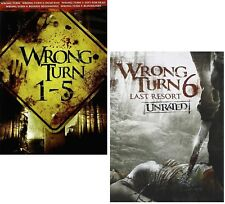 WRONG TURN 1-6 (2003-2014): COMPLETE 6 Movie Collection - NEW Rg1 DVD Sets