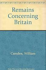 Remains Concerning Britain by Camden, William