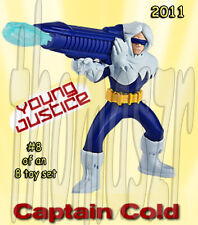 CAPTAIN COLD toy figure #8 YOUNG JUSTICE McDonald's McD / WB / DC (2011) NIOP
