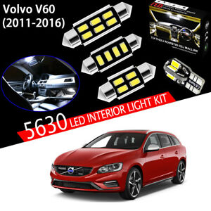 17 Bulbs Xenon White 5630 LED Interior Light Kit Package For Volvo V60 2011-2016