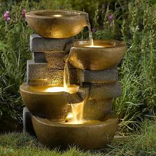 Water Fountain Pots LED Lights/ Outdoor  Yard Garden  Water Features Fountains