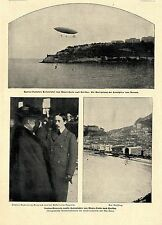 Globo más reciente Santos Dumont paseo de Montecarlo a Córcega Exkaiserin... 1902
