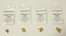 Gold Cyclops Tungsten Bead Heads for Fly Tying, in 2.3mm 2.7mm 3.2mm and 3.8mm