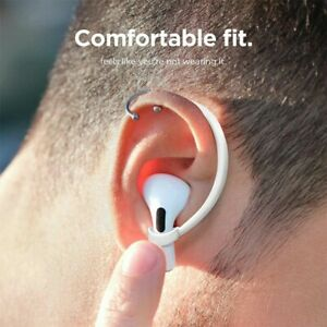1 Pair Anti-Lost Ear Hooks Silicone Earphones Holder For Apple AirPods Pro White