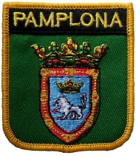 Pamplona Spain Shield Embroidered Patch