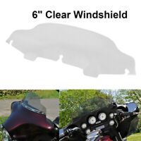 6'' Wave Clear Upper Fairing Windshield For Harley Touring FLHTC FLHX 96-13