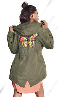 NEW RAIN MAC Ladies PARKA Shower Womens Festival RAINCOAT Size 8 10 12 14 16