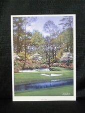 Larry Dyke Hole 12 At Augusta National Masters Golf Lithograph Vertical