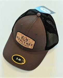 Realtree Fishing Structured Baseball Style Hat, Brownish Gray/Black, Adult S/M