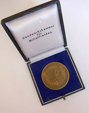 Ehrenmedaille der Handwerkskammer -Mittelfranken Treue und Fleiss- im Etui