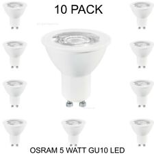 OSRAM 5 WATT GU10 LED LIGHT BULB LAMP DAYLIGHT WHITE A+ ENERGY RATED - 10 PACK