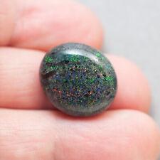 17.9ct Andamooka Solid Rainbow Matrix Opal  Red Green Pinfires