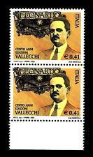 """ITALIA REP. - 2003 - Centenario della rivista """"Leonardo"""" Attilio Vallecchi coppi"""