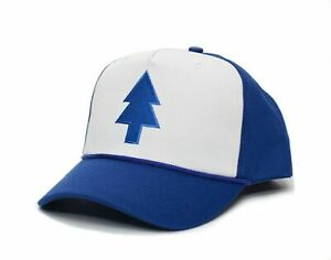 Dipper Blue Pine Hat Embroidered Curved Unisex- Adult Royal/White Cap