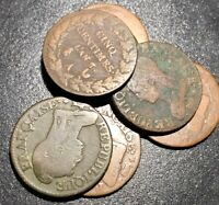 1796-1799 French FRANCE 1st 1r REPUBLIC 5 CENTIMES an 5-8 French Revolution Coin