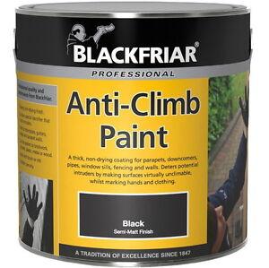 Blackfriar Anti-Climb Vandal Intruder Slippery Black Paint Aids Security 1L