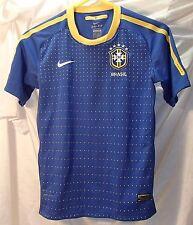 Brazil Blue Nike Dri-Fit National Team Sewn Soccer Jersey Youth L Brasil