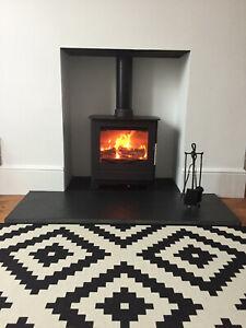 Black Limestone Hearth Sawn edge 1400x600x30. Cut to Size . Very Durable