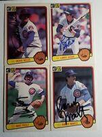 1983 Donruss Chicago Cubs Auto Lot Autograph Signed Card Bowa Proly Noles Martz