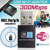 300Mbps Mini Nano USB Wireless 802.11N LAN Card WiFi Network Adapter Dongle