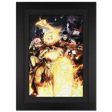 Stan Lee Signed Original Marvel Artwork Comics Ghost Rider canvas framed fr.