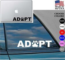 Animal lover Adopt Dog Cat Love Pet Vinyl Decal Sticker for Car Window Laptop