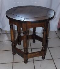 Round Pine End Table / Side Table by Thomasville  (T454)