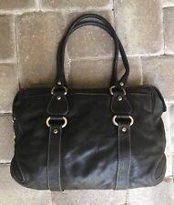 ce53744e76 $359 Gorgeous Francisco Biasa Brn Leather w/ Brass Hardware Shoulder Bag