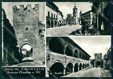 Macerata San Ginesio Saluti da Foto FG cartolina KF1828