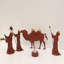 Heilige Drei Könige Krippenfiguren Weihnachtsdekoration Krippe Advent Kerzen