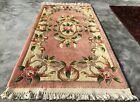Authentic Hand Knotted Vintage Tibet Wool Area Rug 5 x 3 Ft (2567 KBN)