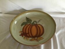"Hausenware Pumpkin Harvest Serving Bowl Large Fall Holiday Thanksgiving 12.5"""