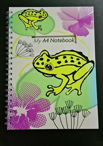 Frog Design A4 Spiral Notebook - 60 Lined Pages NEW