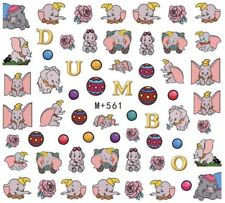 Nail Art Stickers Water Decals Elephant Dumbo Cartoon Character  (M+561)