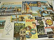 Vintage Wisconsin Dells travel brochures Books & Postcards 1959-
