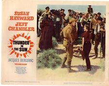 SUSAN HAYWARD JEFF CHANDLER THUNDER IN THE SUN 1959  ORIG   LOBBY CARD #1823