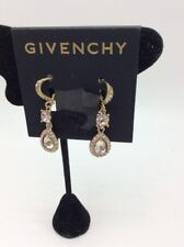$48  Givenchy drop chocolate Crystal double drop earrings 658A