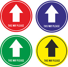 Social Distancing Directional Arrows - Floor Markers/Stickers - Non Slip