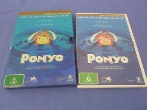 Ponyo DVD Hayao Miyazaki Studio Ghibli Cate Blanchett Matt Damon R4 Free Tracked