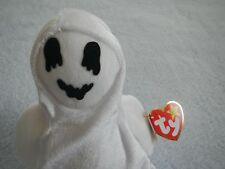 TY BEANIE BABY - SHEETS -  CUTE  GHOST - OCTOBER 31 BIRTHDAY - ACTUAL PHOTO