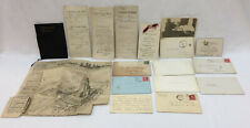 Antique Joseph Delaney Family Personal Records Property Deeds 1907 - 1919 Lot