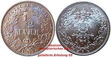J 16   1/2 Mark Pfennig  1909 E in SS