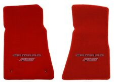 NEW! RED FLOOR MATS 2010-2015 Camaro Embroidered Logo and RS in Red 2 pc SET