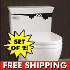 Set Toilet Monster Bathroom Decal Funny vinyl sticker wall art 2