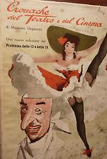Ungaretti: Cronache Teatro Cinema 1951 autografo Pubblicità Lambretta Rolex