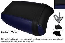 BLACK & NAVY BLUE CUSTOM FITS TRIUMPH THUNDERBIRD 1700 1600 REAR SEAT COVER
