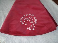 "Williams Sonoma Embroidered  Christmas TREE SKIRT ~ NEW RED VELVET~ 60"" Diameter"