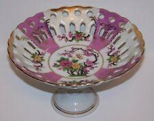 Royal Halsey Porcelain China Pedestal Pastry Dish